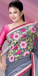 Half Silk Saree Eid Collection 2015, Saree, Sharee, Sari, Bangladeshi Saree